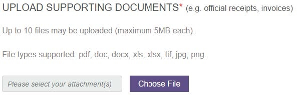 Uploading Supporting Documents