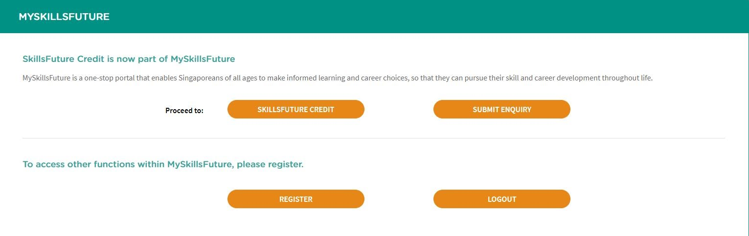 My SkillsFuture Credit