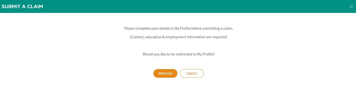 Ensure your profile is updated