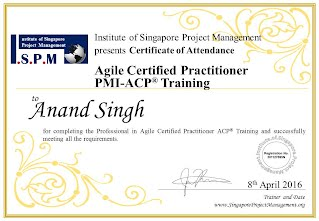 Certificate of Attendance - Agile Certified Practitioner ACP