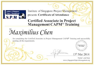 Certificate of Attendance - Certified Associate in Project Management CAPM