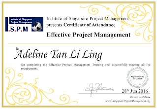 Certificate of Attendance - Effective Project Management