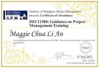 Certificate of Attendance - ISO 21500 Guidance on Project Management