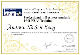 Certificate of Attendance - Professional in Business Analysis PBA