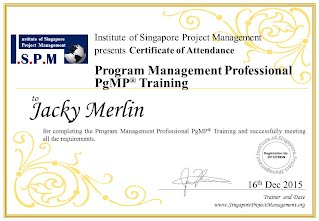 Certificate of Attendance - Program Management Professional PgMP