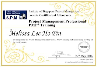 Certificate of Attendance - Project Management Professional PMP