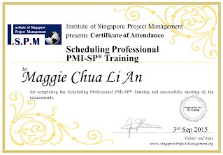 Certificate of Attendance - Scheduling Professional PMI-SP
