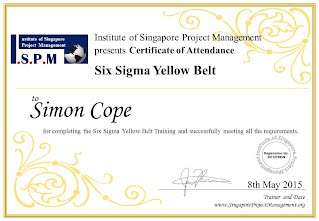 Certificate of Attendance - Six Sigma Yellow Belt