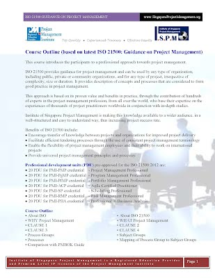 ISO 21500 Guidance on Project Management Course Outline