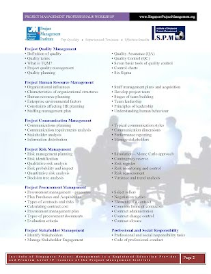 Project Management Professional PMP Course Outline Page2
